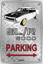 Parking Sign - Metal - Holden Torana SLR 5000 White - Simmons - Checkplate look