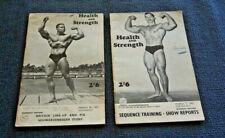 2 x 1967 HEALTH AND STRENGTH  NATIONAL PHYSICAL FITNESS JOURNAL SCHWARZENEGGER #