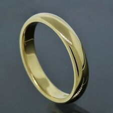 Tiffany & Co. 18K Yellow Gold 4.2MM Wide Wedding Band Ring Size 9.75