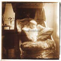 Francia Foto Amateur Neonato Placca Da Lente Stereo Positive Vintage Ca 1925