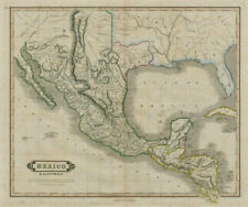 Mexico & Guatimala with the Republic of Texas. LIZARS 1842 old antique map