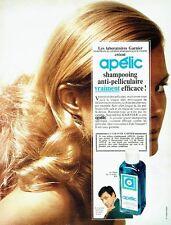 Publicité Advertising 047  1968  shampooing anti-pelliculaire Apélic de Garnier