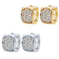 Luxury Woman Earrings Micro Paved AAA Zircon Earrings KC Gold Plated for Women's