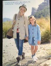 """Hayfield Aran Knitting Pattern  Ladies Girls Jacket Cardigan 24/46"""""""