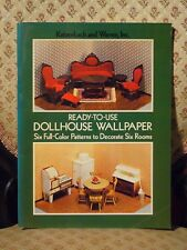 Ready-to-Use Dollhouse Wallpaper ⋅ Six Full-Color Patterns to Decorate Six Rooms