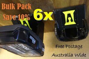 6x Ryobi 18v Battery Holder / Mount / Storage / Bulk Pack - SAVE 10%