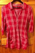 Checked 3/4 Sleeve Casual Shirt Dresses