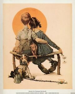 Norman Rockwell Saturday Evening Post Print SUNSET