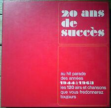 20 ANS DE SUCCES (1944-1963) (Yvette Giraud..) (RCA) (Coffret 10 LP's vinyle) EX
