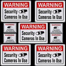 5 METAL Store Security Camera Warning Signs+Door Sticker Decals Lot