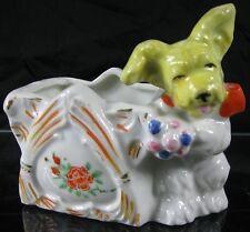 Vintage 1930's Made in Japan Porcelain Cute Scottie Dog Planter