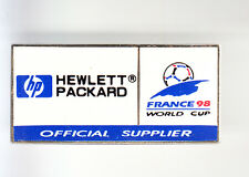 RARE PINS PIN'S .. FOOTBALL SOCCER MONDIAL FRANCE 98 HP HEWLETT PACKARD ~BK
