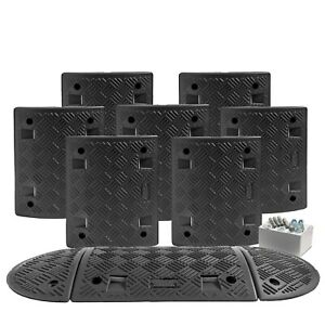 4.5 M All Black Speed Ramp Kit 10 mph 50 mm (Fixings Included)