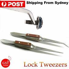 DIY Cross Locking Lock Tweezers Self Closing Jewelry Soldering Craft Repair Tool