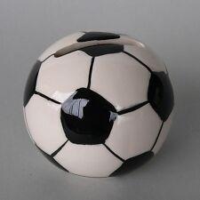 Spardose Fußball Keramik schwarz weiß Sportwette Tippgemeinschaft Sparschwein
