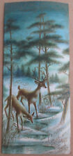 Rare 1958 Used A Sunshine Card Christmas Greeting Deer Grazing Woods Trees Snow
