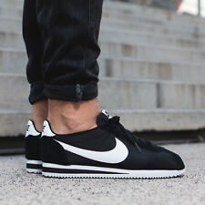 Authentic Nike Classic Cortez Nylon ® ( Men Sizes UK : 7 - 11 ) Black / White 🔥