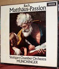 DECCA 4-LP BOX SET 288-91: JS BACH - St. Matthew's Passion - MUNCHINGER, 1965 UK