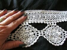 Vintage French Length Prettiest Cotton Crochet Hand Made Lace lampshade Trim