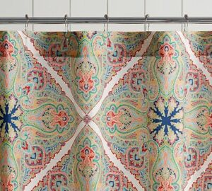 "Pottery Barn Penelope Organic Shower Curtain, Vintage 72"" Square"