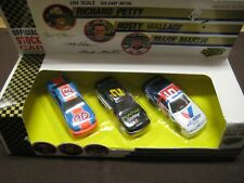 RICHARD PETTY,RUSTY WALLACE,MARK MARTIN 1/64 OFFICIAL STOCK CAR COLLECTION