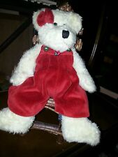 Boyd's Bear..Red, beautiful! 10-12 in tall..my favorite! Chair sold separately!