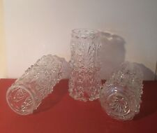 3 x 1960/70's Vintage Cylinder Light Shades Iridescent/Lustre Glass VGC Rare