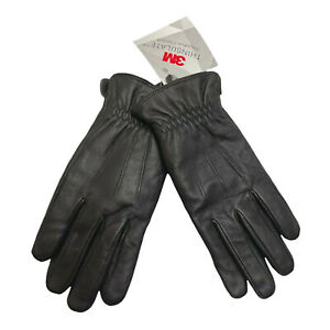 Leather Gloves 3M Thinsulate Insulation Mens Medium Brown New NWT