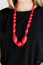 Summer Breezin Red Necklace By: Paparazzi