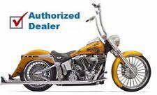 "Bassani Chrome True Dual Exhaust 36"" Long Fishtail Mufflers Harley Softail 07-17"