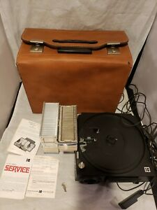Kodak Carousel 650H 35mm Slide Projector Remote Tested With Case