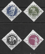 JAPAN , 1964 OLYMPICS , SPORTS , SET 5 OF 4 STAMPS , MNH