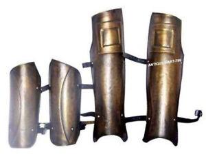 Medieval 300 Greek Spartan King Leonidas Armor Arm And Leg Guard Halloween Set
