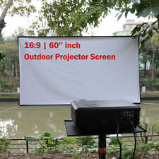 60'' PVC Projector Screen 16:9 HD Projection Home Cinema Outdoor Party US Stock