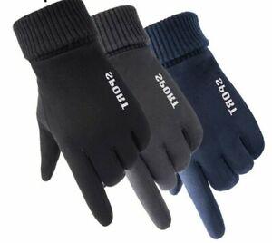 Men Winter Touch Screen Warm Gloves Autumn Sport Riding Outdoor Windproof Mitten