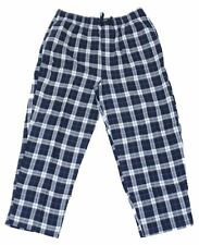 NEW BIG & TALL HARBOR BAY MEN'S BLUE PLAID FLANNEL LOUNGE PANTS PAJAMAS PJS