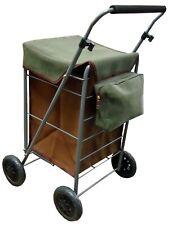 Carrito de compras de calidad 4 Ruedas Plegable Trolley Bolsa Clásico Con Marco De Metal
