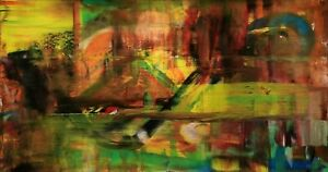 Großes Acryl Gemälde XXL Modern CHP1721 Handgemalt Bild Kunst Abstrakt 160x90cm