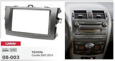CARAV 08-003 2Din Kit de instalación de radio TOYOTA Corolla 2007-2013 Dark Grey