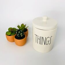 "Rae Dunn ""Things"" Canister Jar Ceramic Collectibles Kitchen Storage Organization"
