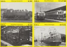 Lote 8 Tarjetas Postales Ferrocarril Dampfloks Reiju Editorial