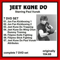 JEET KUNE DO 7 DVD SET PAUL VANUK JKD jun gung fu mma kung   panther productions