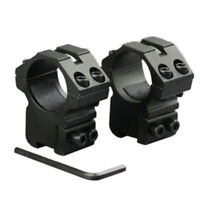 """Scope Rings 1"""" Dia For 22 cal For Air Rifle 3/8 Inch Dovetail Mount Rail 11mm"""