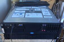HP DL580 4 X Six Core 2.67GHz 64GB RAM 2 X 146GB SAS HDD Quad Power Supply 3RU