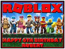 Roblox Edible Icing Image Personalised Birthday Party Cake Decoration Topper