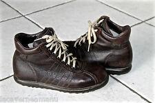 zapatos de cuero granulado marrón CAMPER tamaño 37 excelente estado (niño)