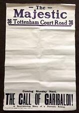 THE MAJESTIC CINEMA - LONDON - POSTER / ADVERT SHEET  30''x 20''- DAMAGED