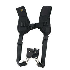 Double Dual Shoulder Neck Strap Sling Belt For Digital SLR DSLR Camera SG