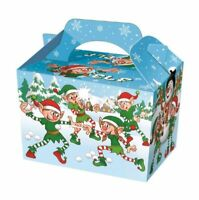 20 Christmas Elf Party Boxes - Food Loot Lunch Cardboard Gift