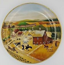 Country Journeys Franklin Mint American Folk Art Collection Plate Lowell Herrero